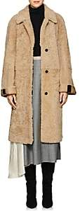 Prada Women's Belted Shearling Coat - Camel