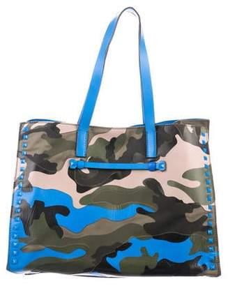 f54557905 Valentino Rockstud Camouflage Shopper Tote