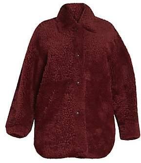 Isabel Marant Women's Sarvey Reversible Shearling & Leather Coat