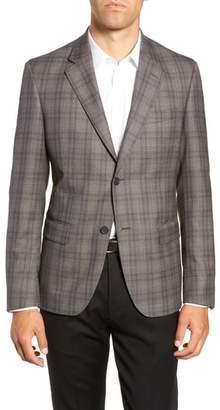 Nordstrom Trim Fit Plaid Wool Sport Coat