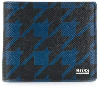 HUGO BOSS houndstooth-print wallet