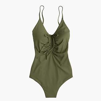 J.Crew Playa Laguna ruched one-piece swimsuit