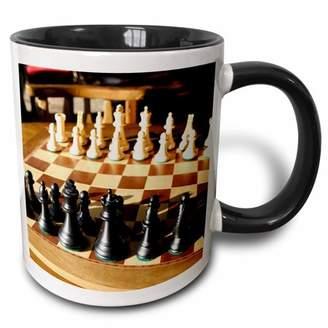 3dRose Argentina, El Calafate, Chess board, game - SA01 MME0236 - Michele Molinari - Two Tone Black Mug, 11-ounce
