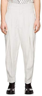 Haider Ackermann Men's Linen Drop-Rise Trousers