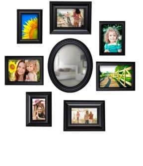 Philip Whitney 8-Piece Wall Collage and Mirror