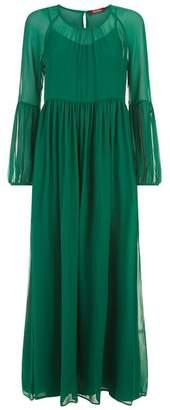 Max Mara Silk Maxi Dress With Slip