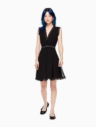 Kate Spade Chiffon embellished mini dress