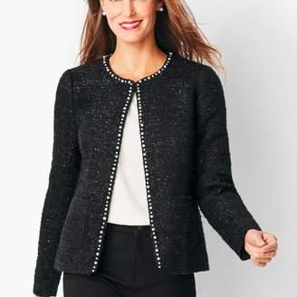 Talbots Tweed Sequin & Pearl Jacket
