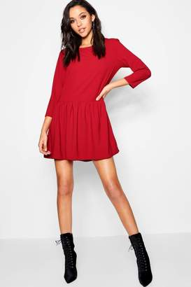 boohoo Frill Bottom Shift Dress