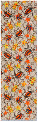 Children's GG beetles wool scarf $170 thestylecure.com