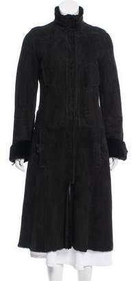 Gucci Shearling Long Coat