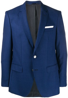 HUGO BOSS fitted suit jacket