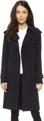 Norma Kamali Kamali Kulture Double Breasted Trench Coat $385 thestylecure.com