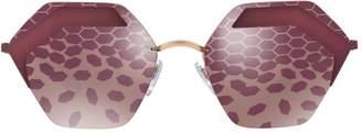 Bvlgari Serpenti Hexagonal Sunglasses