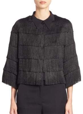 Stella McCartney Cropped Fringe Silk Jacket