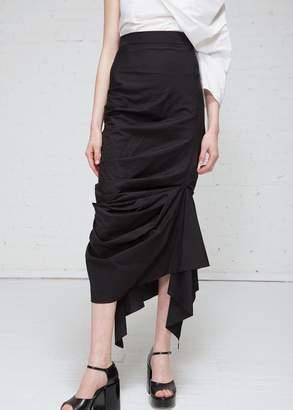 Awake Black Gathered Skirt