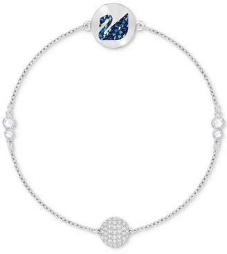 Swarovski Remix Collection Silver-Tone Crystal Swan & Orb Magnetic Flex Bracelet
