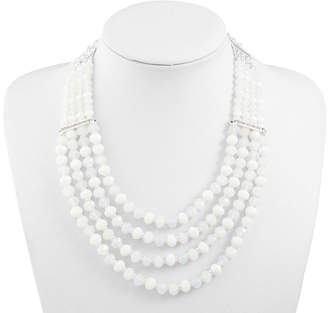 Liz Claiborne Womens Clear Beaded Necklace