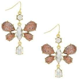 Jessica Simpson Crystal Dragonfly Drop Earrings