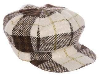 Burberry Wool Nova Check Driver Hat