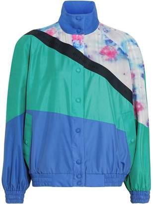 Burberry Tie-dye Silk Shell Suit Jacket