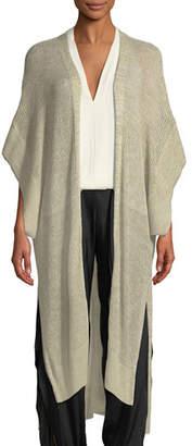 Halston Short-Sleeve Kaftan Cardigan
