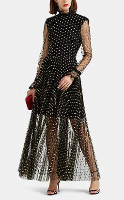 Philosophy di Lorenzo Serafini Women's Polka Dot Tulle Gown - Black