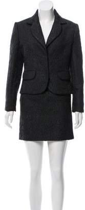 Christian Dior Jacquard Mini Skirt Suit