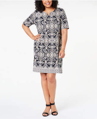 Karen Scott Plus Size Printed Dress