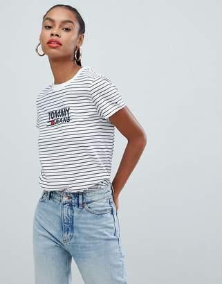 Tommy Jeans stripe flag logo t-shirt