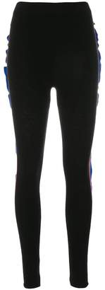 Laneus side ruffle leggings