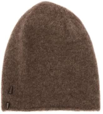Isabel Benenato Pin Embellished Wool & Yak Beanie Hat