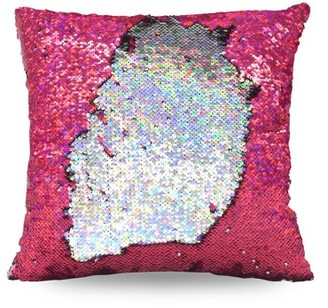 "Mainstays Holographic Reversible Sequins Sparkle Pillow, 17"" x 17"""