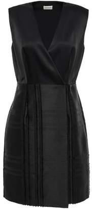 By Malene Birger Wrap-effect Crepe-satin Twill Dress