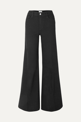 Frame Le Palazzo High-rise Wide-leg Jeans - Black
