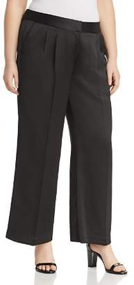 Vince Camuto Plus Satin Wide Leg Pants