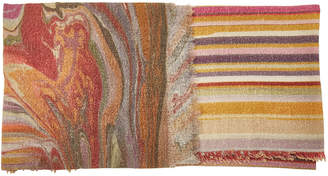 Faliero Sarti Circus Printed Scarf with Virgin Wool, Cashmere and Silk