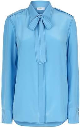 Sandro Tie Neck Silk Shirt