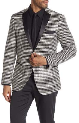 Paisley & Gray Houndstooth Two Button Notch Lapel Slim Fit Tuxedo Jacket