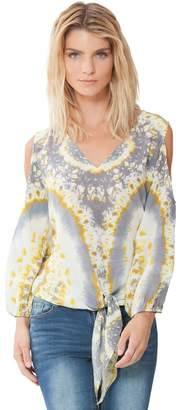 Hale Bob Inessa Knotted Silk Blouse
