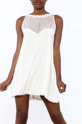 POL Mesh & Crochet Dress