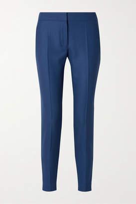 Stella McCartney Wool-piqué Straight-leg Pants - Blue