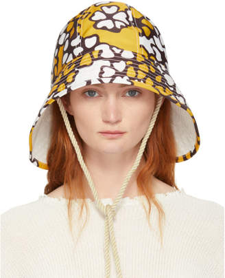 3.1 Phillip Lim Orange Printed Sporting Bucket Hat