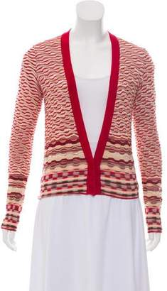 Missoni Textured Knit V-Neck Cardigan