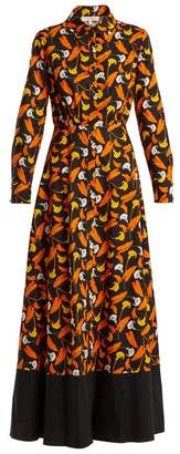 Borgo De Nor - Frida Calla Lily Print Cotton Maxi Dress - Womens - Orange Multi