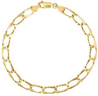 Tag Heuer FINE JEWELLERY Yellow Gold Rectangular Stamp Link Bracelet