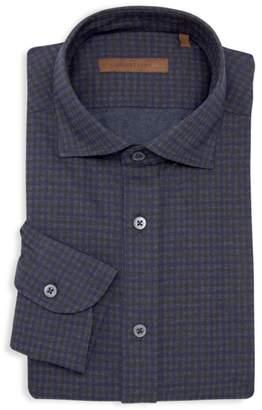 Corneliani Classic-Fit Check Dress Shirt