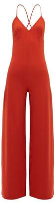 Norma Kamali Low Back Jersey Jumpsuit - Womens - Red