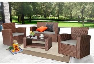 Ebern Designs Edward 4 Piece Sofa Set with Cushions Frame