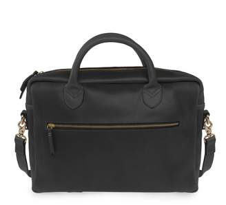 VIDA VIDA - Luxe Black Leather Laptop Bag